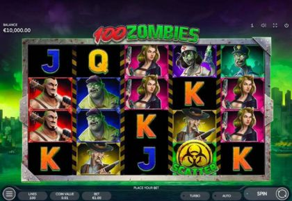 Slot Reels - 100 Zombies-Endorphina Mobile Slot Game