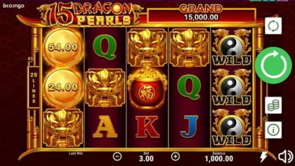 Slot Reels - 15 Dragon Pearls-Booongo Mobile Slot Game