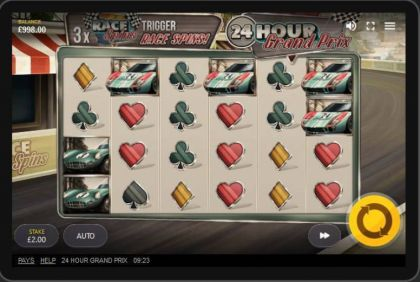 Slot Reels - 24 Hour Grand Prix-Red Tiger Gaming Mobile Slot Game
