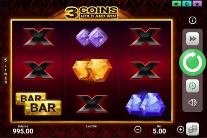 Slot Reels - 3 Coins-Booongo Mobile Slot Game