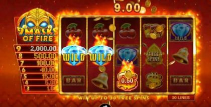 - 9 Masks of Fire- Mobile Slot Game