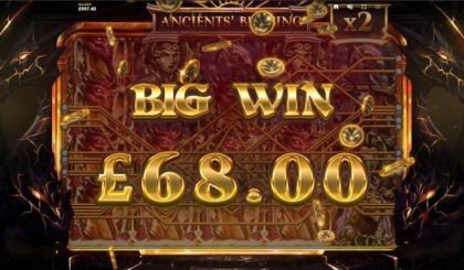 Winning - Ancients' Blessing-Red Tiger Gaming Mobile Slot Game