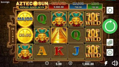 Slot Reels - Aztec Sun-Booongo Mobile Slot Game