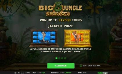 Info, Bonus 1 - Big 5 Jungle Jackpot-StakeLogic Mobile Slot Game