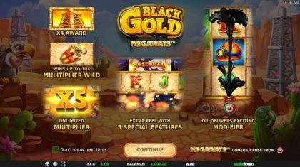 - Black Gold Megaways- Mobile Slot Game