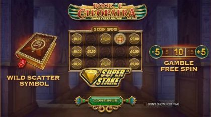 Info - Book of Cleopatra Super Stake Edition-StakeLogic Mobile Slot Game