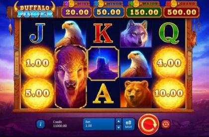 Slot Reels - Buffalo Power: Hold and Win-Playson Mobile Slot Game