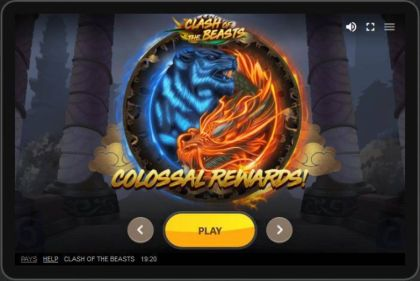 Slot Reels - Clash of the Beasts-Red Tiger Gaming Mobile Slot Game