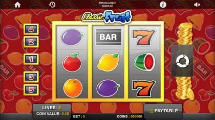 Slot Reels - Classic Fruit-1x2 Gaming Mobile Slot Game