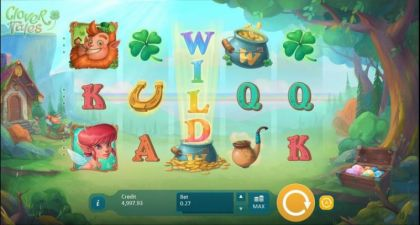 Slot Reels - Clover Tales-Playson Mobile Slot Game