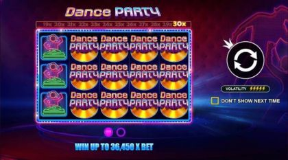 Info - Dance Party-Pragmatic Play Mobile Slot Game