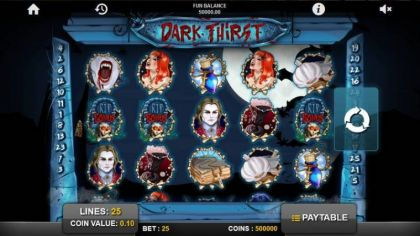 Slot Reels - Dark Thirst-1x2 Gaming Mobile Slot Game