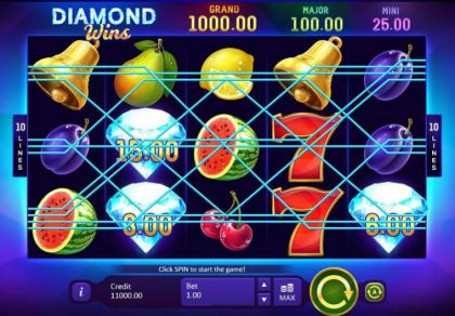 Slot Reels - Diamond Wins: Hold&Win-Playson Mobile Slot Game