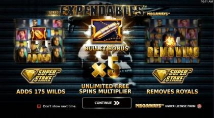 Info - Expendables Megaways-StakeLogic Mobile Slot Game