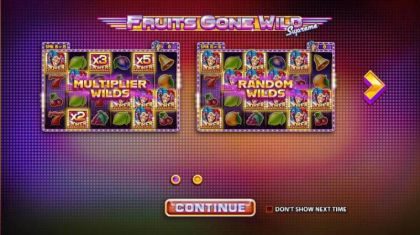 Info - Fruits Gone Wild Supreme-StakeLogic Mobile Slot Game