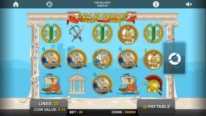 Slot Reels - Gods of Olympus-1x2 Gaming Mobile Slot Game