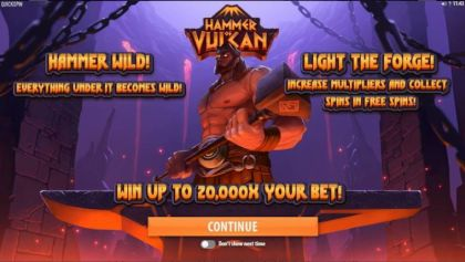 Bonus 1, Paytable - Hammer of Vulcan-Quickspin Mobile Slot Game