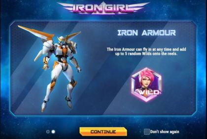 Info, Bonus 1 - Iron Girl-Play'n GO Mobile Slot Game