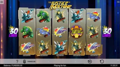 Slot Reels - Justice Machine-1x2 Gaming Mobile Slot Game