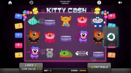 Slot Reels - Kitty Cash-1x2 Gaming Mobile Slot Game