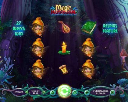 Info - Magic Mushroom-RTG Mobile Slot Game