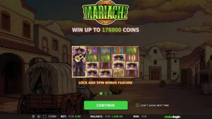 Info - Mariachi-StakeLogic Mobile Slot Game