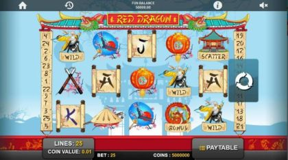 Slot Reels - Red Dragon-1x2 Gaming Mobile Slot Game