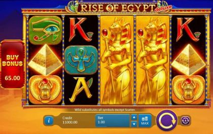 Slot Reels - Rise of Egypt Deluxe-Playson Mobile Slot Game