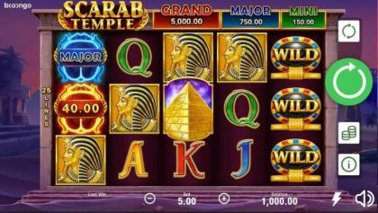 Slot Reels - Scarab Temple-Booongo Mobile Slot Game