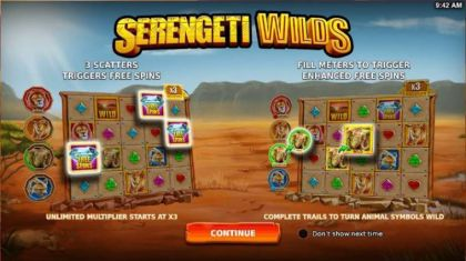 Info - Serengeti Wilds-StakeLogic Mobile Slot Game