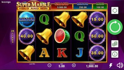 Slot Reels - Super Marble-Booongo Mobile Slot Game