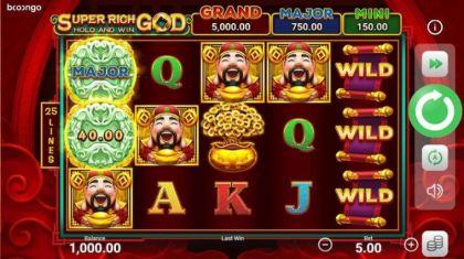 Slot Reels - Super Rich God: Hold and Win-Booongo Mobile Slot Game