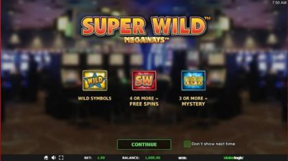 - Super Wild Megaways- Mobile Slot Game