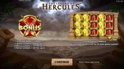 Info - The Legend of Hercules-StakeLogic Mobile Slot Game