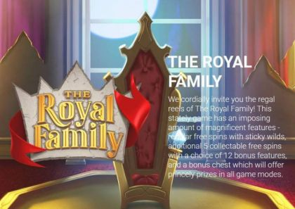Info - The Royal Family-Yggdrasil Mobile Slot Game