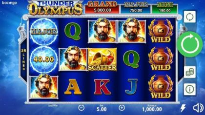Slot Reels - Thunder of Olympus-Booongo Mobile Slot Game