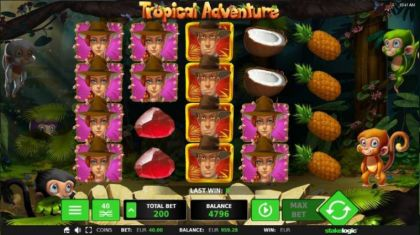 Slot Reels - Tropical Adventure-StakeLogic Mobile Slot Game