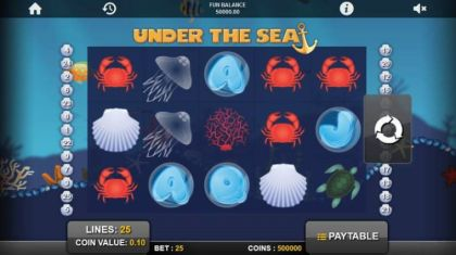 Slot Reels - Under the Sea-1x2 Gaming Mobile Slot Game