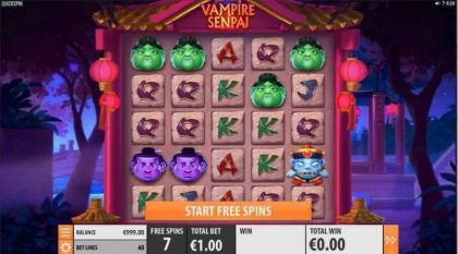 Slot Reels - Vampire Senpai-Quickspin Mobile Slot Game