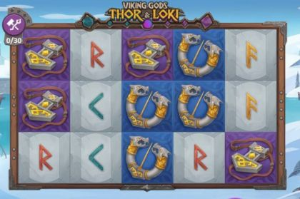 Slot Reels - Viking Gods: Thor and Loki-Playson Mobile Slot Game