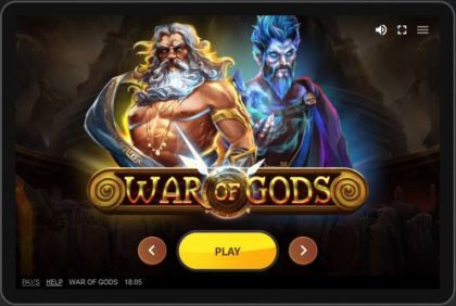 Info - War of Gods-Red Tiger Gaming Mobile Slot Game