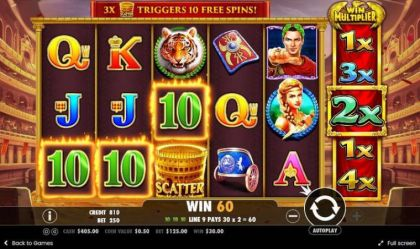 Slot Reels - Wild Gladiators-Pragmatic Play Mobile Slot Game