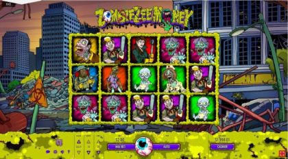 Slot Reels - Zombiezee Money-Rival Mobile Slot Game