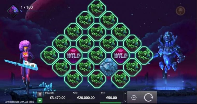 Slot Reels at Astro Legends: Lyra and Erion 5 Reel Mobile Real Slot created by Microgaming