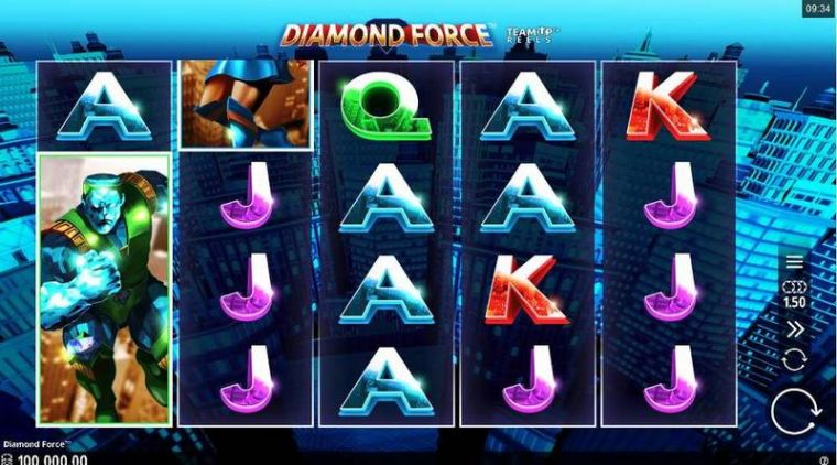 Slot Reels at Diamond Force 5 Reel Mobile Real Slot created by Microgaming